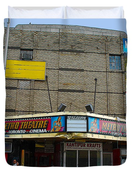 Old Film Theatre In Decay Duvet Cover by Nina Silver