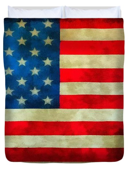Old Glory Duvet Cover by Dan Sproul