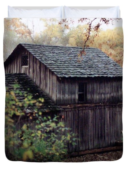 Old Grist Mill Duvet Cover by Thomas Woolworth