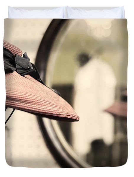 Old Hat Duvet Cover by Heather Applegate