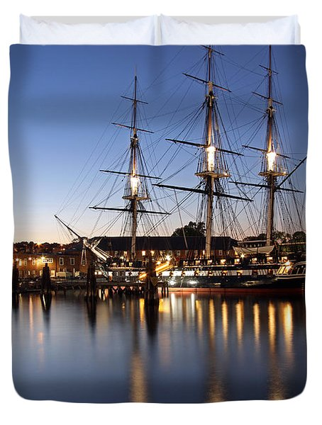 Old Ironsides Duvet Cover by Juergen Roth