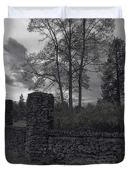 Old Liberty Park Ruins In Spokane Washington Duvet Cover by Daniel Hagerman