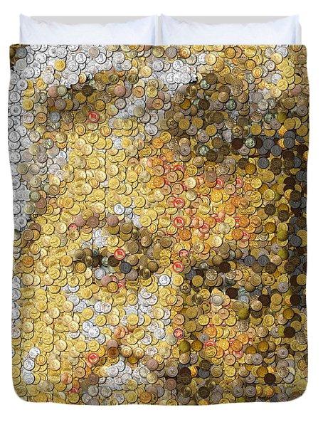 Old Man Coin Mosaic Duvet Cover by Paul Van Scott