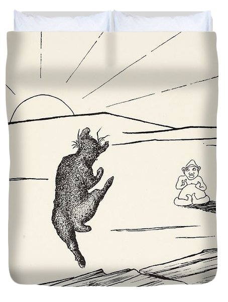Old Man Kangaroo Duvet Cover by Rudyard Kipling