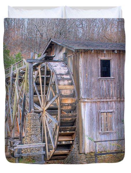 Old Mill Water Wheel and Sluce Duvet Cover by Douglas Barnett