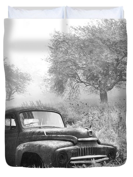 Old Pick Up Truck Duvet Cover by Debra and Dave Vanderlaan