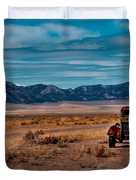 Old Pickup Duvet Cover by Robert Bales