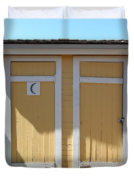 Old Sacramento California Schoolhouse Outhouse 5d25549 Duvet Cover by Wingsdomain Art and Photography