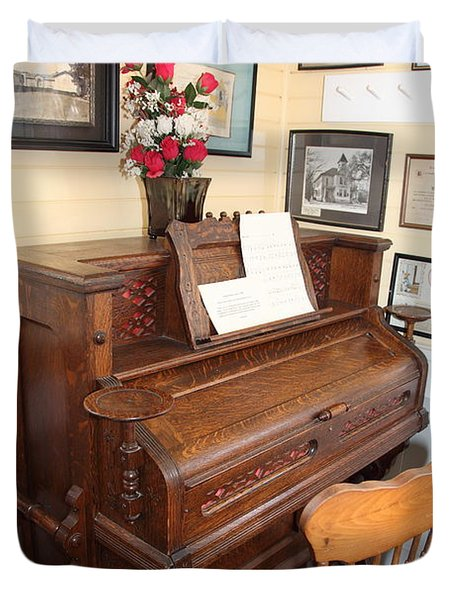 Old Sacramento California Schoolhouse Piano 5d25783 Duvet Cover by Wingsdomain Art and Photography