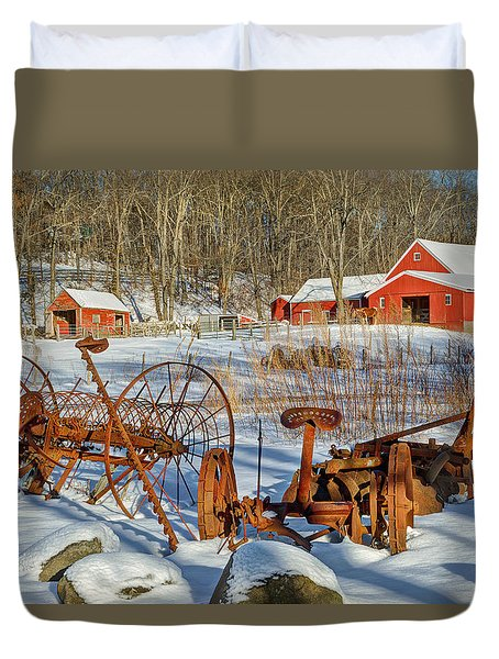 Old School Duvet Cover by Bill Wakeley