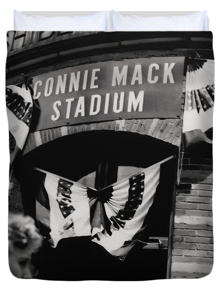 Old Shibe Park - Connie Mack Stadium Duvet Cover by Bill Cannon