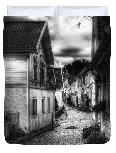 Old Stavanger Part II Duvet Cover by Erik Brede