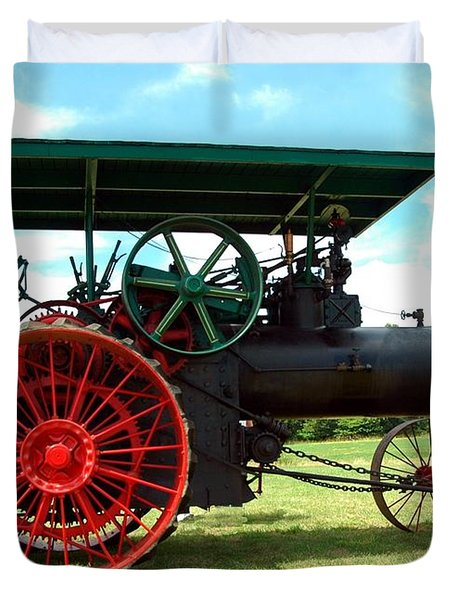 Old Steam Engine Duvet Cover by Kathleen Struckle