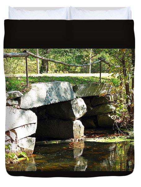 Old Stone Bridge Duvet Cover by Barbara McDevitt