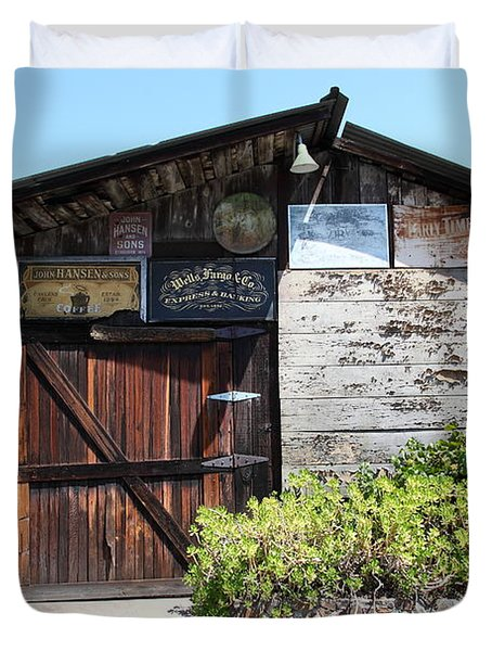 Old Storage Shed At the Swiss Hotel Sonoma California 5D24458 Duvet Cover by Wingsdomain Art and Photography