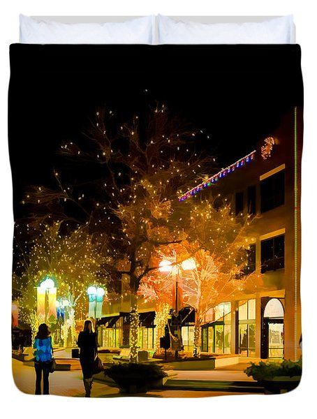 Old Town Christmas Duvet Cover by Jon Burch Photography