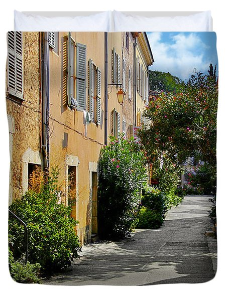 Old town of Valbonne France  Duvet Cover by Christine Till