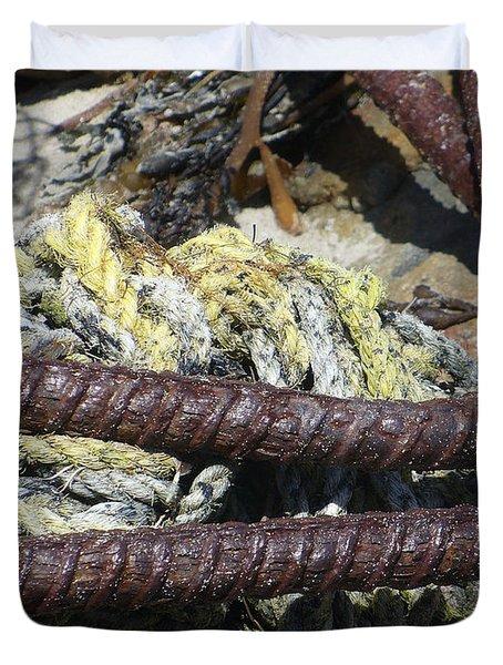 Old Trap Close-up Duvet Cover by Minnie Lippiatt
