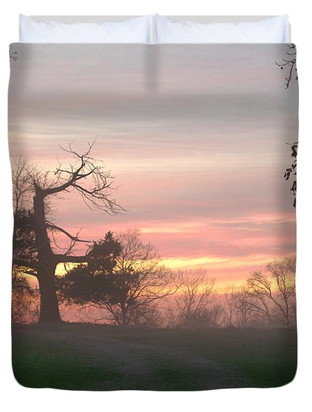 Old Tree At Sunset Duvet Cover by Brian Harig