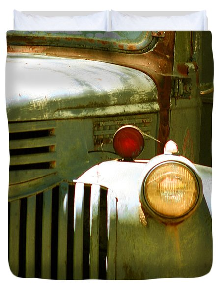 Old Truck Abstract Duvet Cover by Ben and Raisa Gertsberg