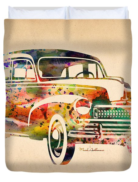 Old Volkswagen Duvet Cover by Mark Ashkenazi