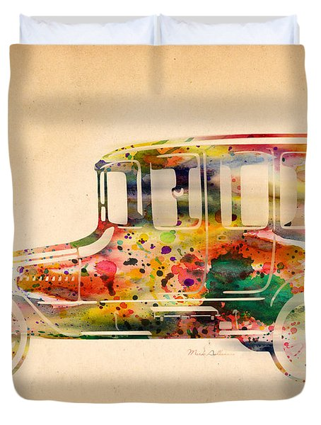Old Volkswagen3 Duvet Cover by Mark Ashkenazi