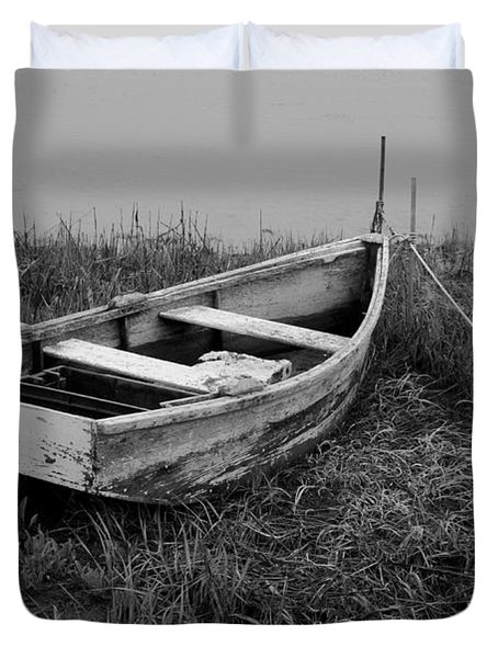 Old Wooden Rowboat II Duvet Cover by Dave Gordon