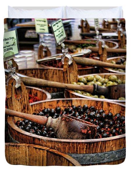 Olives Duvet Cover by Heather Applegate