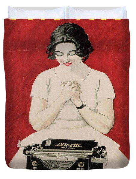 Olivetti Duvet Cover by Nomad Art And  Design