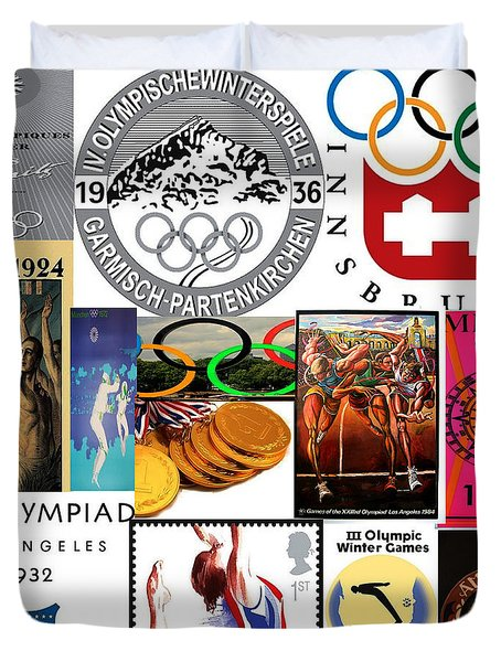 Olympic Memories Duvet Cover by M and L Creations
