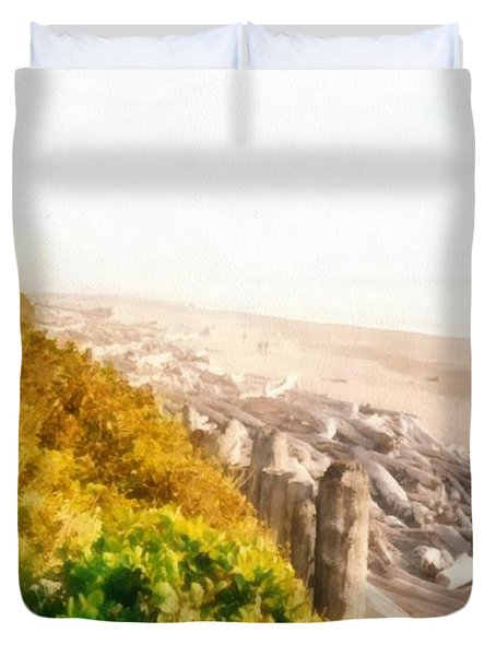 Olympic Peninsula Driftwood Duvet Cover by Michelle Calkins