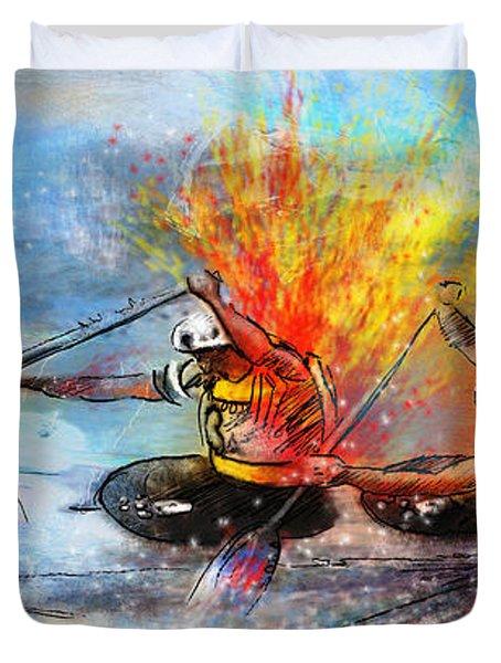 Olympics Canoe Slalom 05 Duvet Cover by Miki De Goodaboom