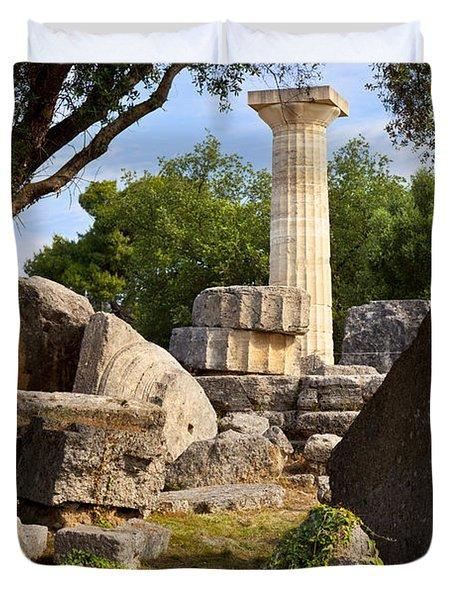 Olympus Ruins Duvet Cover by Brian Jannsen