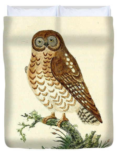 Ominous Owl Duvet Cover by John Latham