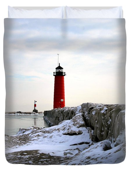 On A Cold Winter's Morning Duvet Cover by Kay Novy