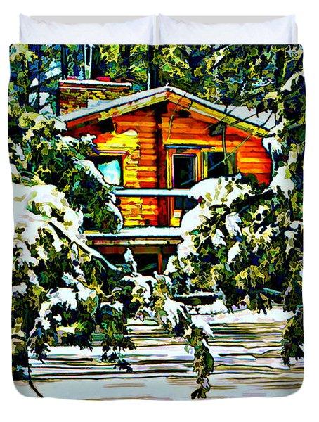 On a Winter Day Duvet Cover by Steve Harrington