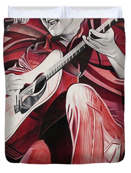 On bended Knees Duvet Cover by Joshua Morton