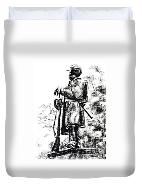 On Duty In Brigadoon  No Ch101 Duvet Cover by Kip DeVore