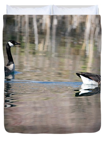 On Golden Pond Duvet Cover by Mike Dawson