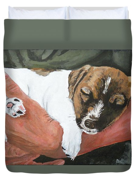 on guard Duvet Cover by Michael Dillon