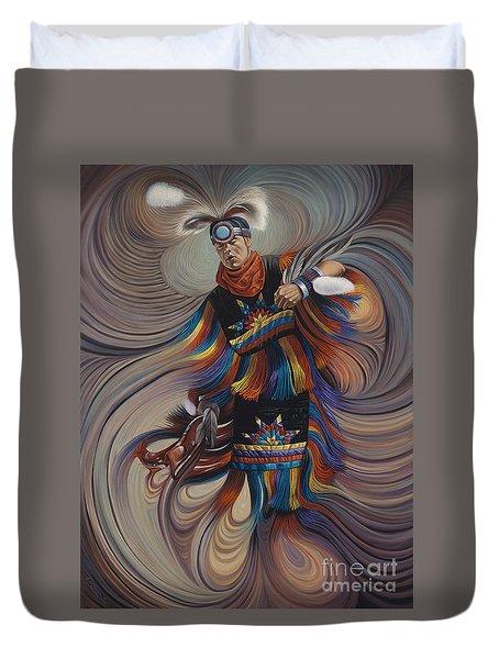 On Sacred Ground Series II Duvet Cover by Ricardo Chavez-Mendez