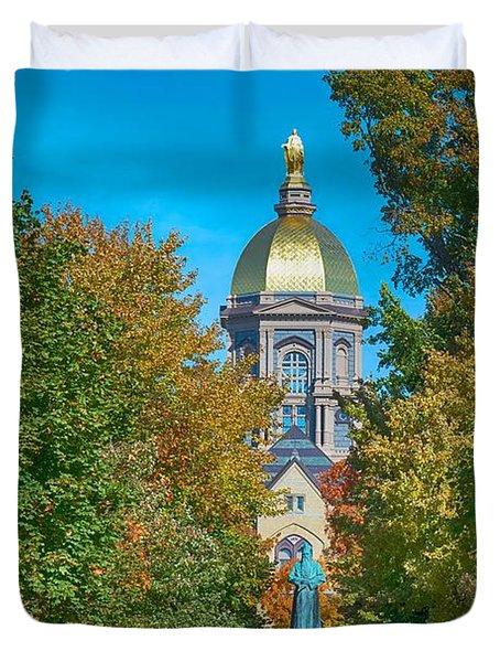 On The Campus Of The University Of Notre Dame Duvet Cover by Mountain Dreams