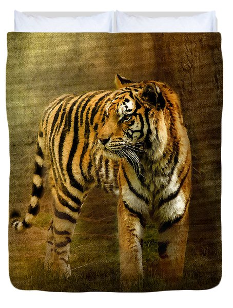 On The Hunt Duvet Cover by Betty LaRue