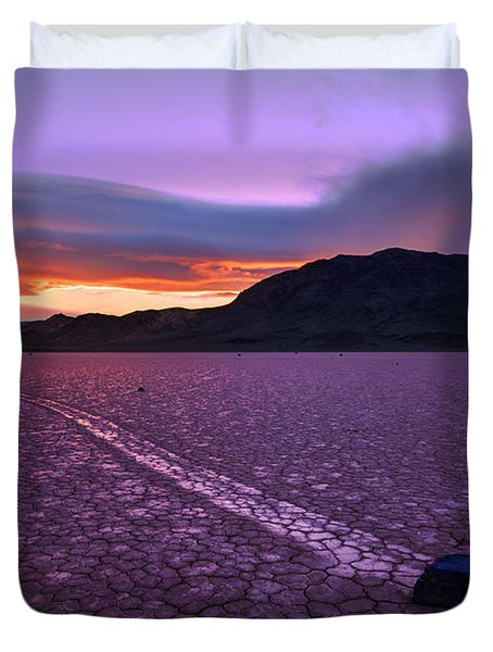 On The Playa Duvet Cover by Chad Dutson