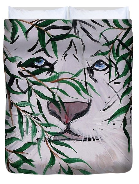 On The Prowl Duvet Cover by Mark Moore