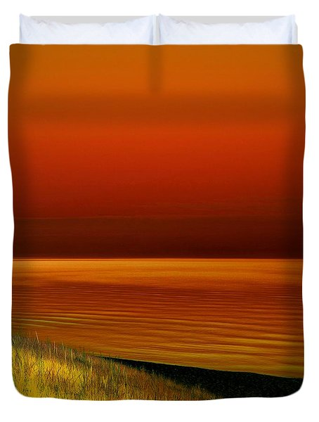 On The Shore Duvet Cover by Michelle Calkins
