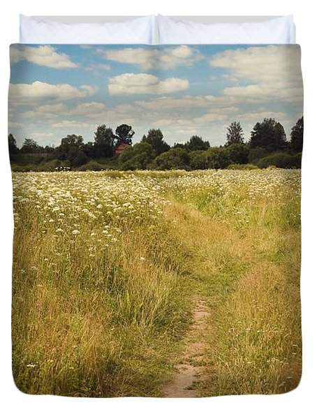 On the Summer Meadow. Russia Duvet Cover by Jenny Rainbow