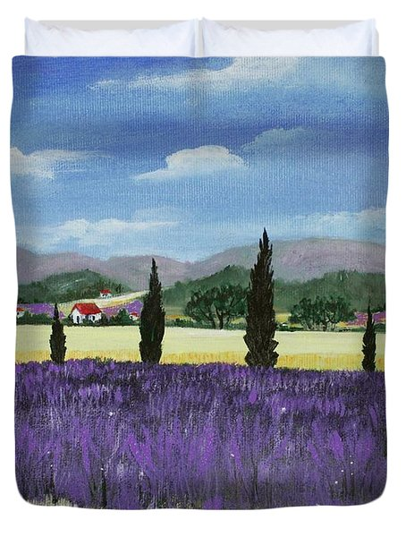 On the way to Roussillon Duvet Cover by Anastasiya Malakhova