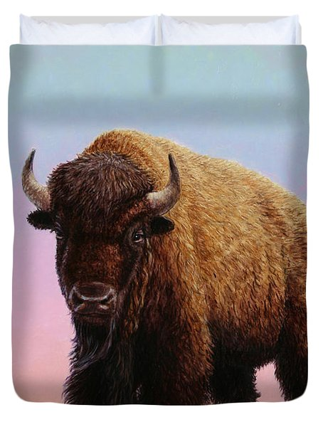On Thin Ice Duvet Cover by James W Johnson