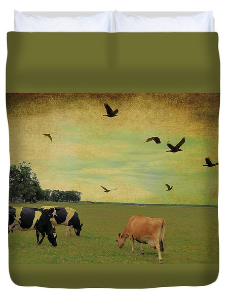 On This Green Earth Duvet Cover by Jan Amiss Photography